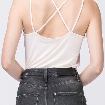 Ashley Strappy Back Tank in Off White