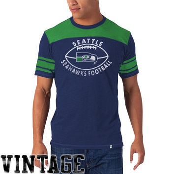 47 Brand Seattle Seahawks Vintage Halfback T-Shirt - College Navy