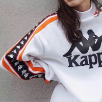 '' Kappa '' Fashion Print Round Neck Top Sweater Pullover