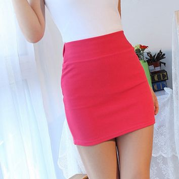 Bodycon Fitted Skirt - Hot Pink