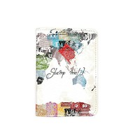 Stamp World Map Customized Cute Leather Passport Holder - Passport Covers - Passport Wallet_SUPERTRAMPshop