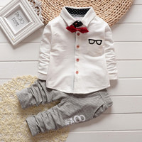 1 4Y Baby Boy Clothing Sets Fashion Bow Tie Gentleman Suit Boys Clothes Set Long Sleeve Kids New Year Outfits Boy Brand Clothes-in Clothing Sets from Mother & Kids on Aliexpress.com | Alibaba Group