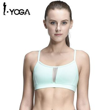 Sexy Fitness Women Sports Tank Top Fitness Running Yoga Bra Back With Hollow Mesh Breathable Quick Dry Gym Yoga Vest