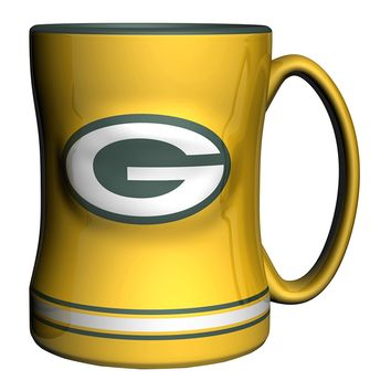 Green Bay Packers Sculpted Mug 14-ounce