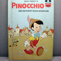 1973 Pinocchio Vintage Disney Book by VintageWoods on Etsy