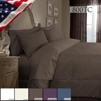 SUPREME SATEEN 800 SOLID COMFORTER SET IN DIFFERENT COLORS AND SIZES
