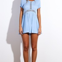 HelloMolly | Sun Dancer Dress Light Blue