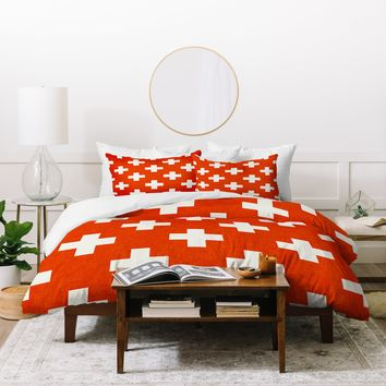 Holli Zollinger Vermillion Plus Duvet Cover