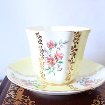 Midcentury Royal Grafton Fine Bone China Cup & Saucer Set / Bridal Gift / Wedding Gift / Tea Set / Coffee Set / Made In England