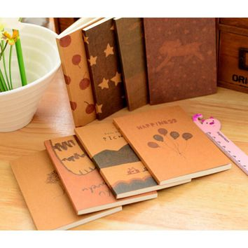 1pcs Mini Cute Notebook Old Painting Diary Day Planner Journal Record Stationery Office School Supplies