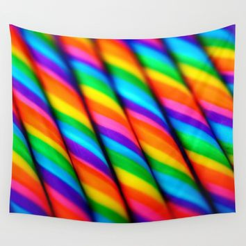 Rainbow Candy : Candy Canes Wall Tapestry by WhimsyRomance&Fun
