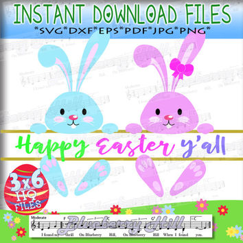 80% Off! - Split Easter Bunny SVG - Easter SVG File - Easter cuttable files - 3 in 1 -  Cut Files - DIY- Svg - Dxf- Eps - Png -Jpg - Pdf