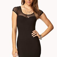 Sweetheart Mesh Dress