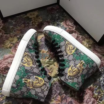 GUCCI fashion casual shoes tiger