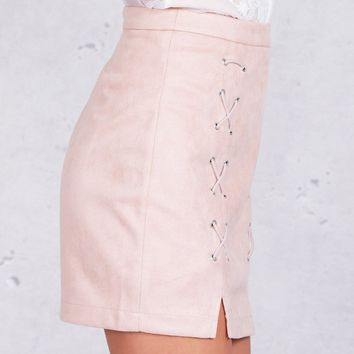 Leather Skirts | Suede Skirts | Lace Up Skirts