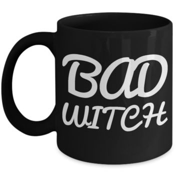 Bad Witch Coffee Mug For Women Black Ceramic Holiday Gift For Her Halloween Gifts 2017 2018 Cookie Jar & Pen Holder