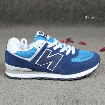 CREYONV new balance running shoes leisure shoes gump sneakers lovers shoes n words blue