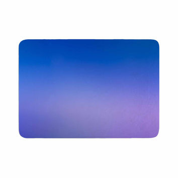 "Malia Shields ""Aura Series #5"" Blue Purple Memory Foam Bath Mat"