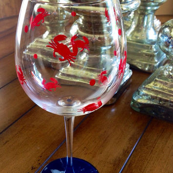 Crab Personalized Wine Glass