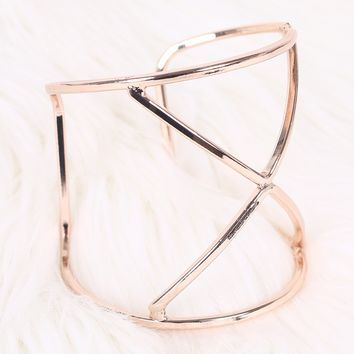 Triangles Wire Cuff Bracelet