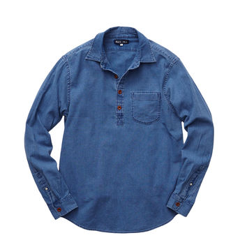 INDIGO CAPE SHIRT