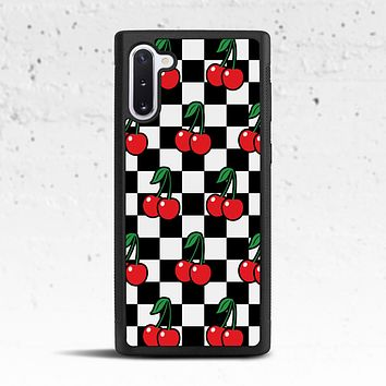 Cherry Checkered Phone Case for Samsung Galaxy S & Note