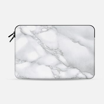 Marble White | Macbook Sleeve Macbook 12 sleeve by Me And The Moon | Casetify