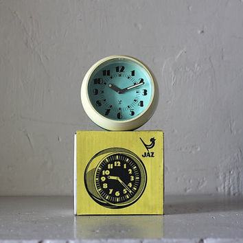 Funky Vintage Space Age French Jaz Alarm Clock Mechanical Mechanism
