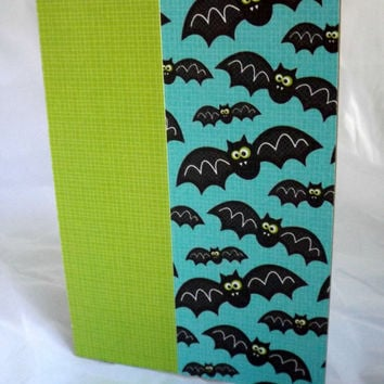 Halloween Card Bat Card Halloween Card for Kids Hand Made Card Handmade Halloween Card Kraft Paper Card Halloween Not So Scary Halloween