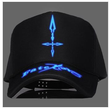 Trendy Winter Jacket Japanese Anime New Fate Stay Night Fate Zero Printed Cap Luminous Trucker Baseball Caps Adjustable Summer Snapback Hat Cosplay AT_92_12