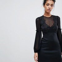 ASOS Blouson Lace A-Line Mini Dress at asos.com