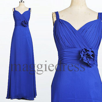 Custom Royal Blue Long Prom Dresess Bridesmaid Dresses 2014 Evening Gowns Formal Party Dresess Homecoming Dresses Party Dress Cheap Dress