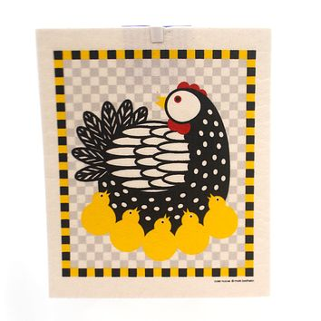 Swedish Dish Cloth Chicken Decorative Towel
