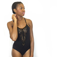 Larkspur - Githa Organic Cotton Bodysuit - Black