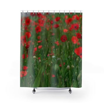 Poppy Field Shower Curtains
