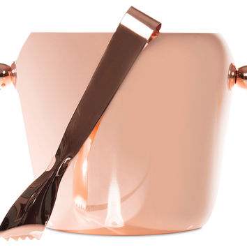 Copper Ice Bucket w/ Tongs, Ice Buckets