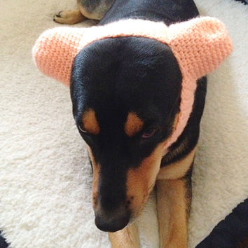 20 COLORS - Dog Ear Warmer Hat for Large Dogs - Crochet Dog Headband - Dog Ear Dome Hat - Cute Funny Dog Hat - Dog Snood - Big Pet Clothing