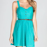 FULL TILT Crochet Overlay Dress
