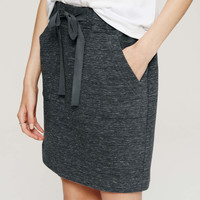 Melange Drawstring Skirt