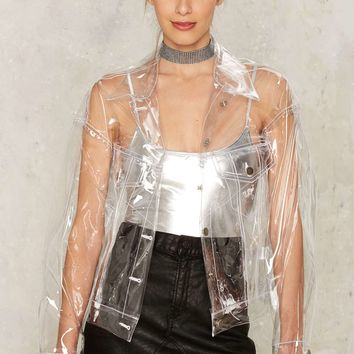 Brashy Crystalline Clear Windbreaker