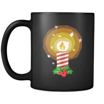 Candle Christmas Black 11oz mug