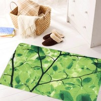 3D Pattern Large Bathroom Mat, Non Slip Mat Environmental Protection And Tasteless PVC Mat Shower Bath Mat With Suction Cup Green Tree (Size: 69cm by 40cm, Color: Green)