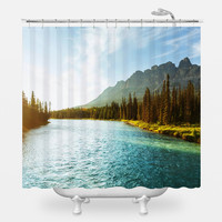 Castle Mountain Shower Curtain