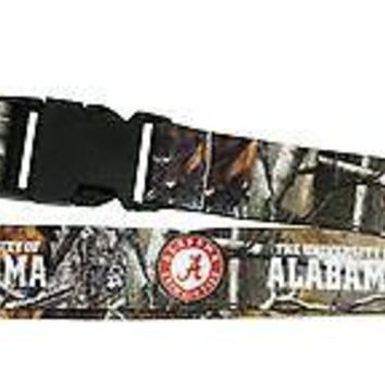 Alabama Crimson Tide CAMO REALTREE 2-sided Premium Breakwy Lanyard University of