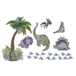 Truly Scrumptious by Heidi Klum Dinosaur Tracks Baby Boy Nursery Wall Art Decal