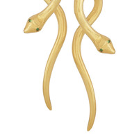 IAM by Ileana Makri - Boa gold-plated tsavorite earrings