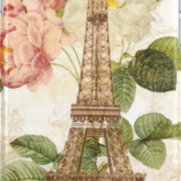 Paris Pink Roses Vintage French Romantic by 13Moons