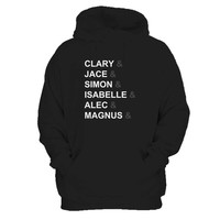 City Of Bones Shadowhunters The Mortal Instruments Tv Show Typography Man's Hoodie