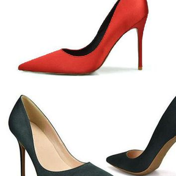 Vintage 50's Satin Stilettos - 4 Colors and 2 Heel Heights
