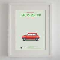 The Italian Job inspired movie poster, art print A3 Cars And Films